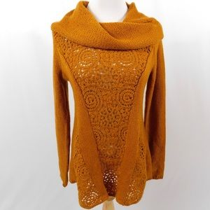 Anthropologie Gold Knit Sweater